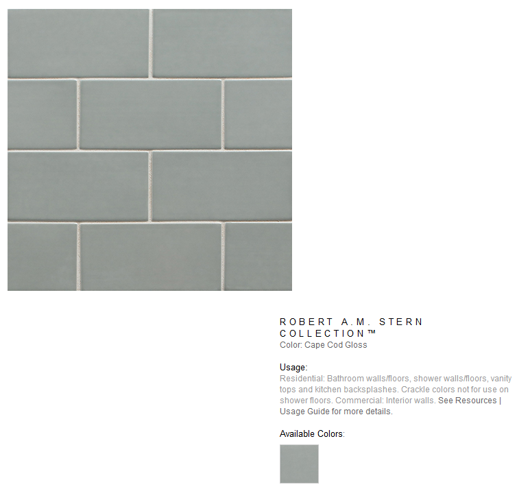 Robert A.M. stern Collection Subway Tile
