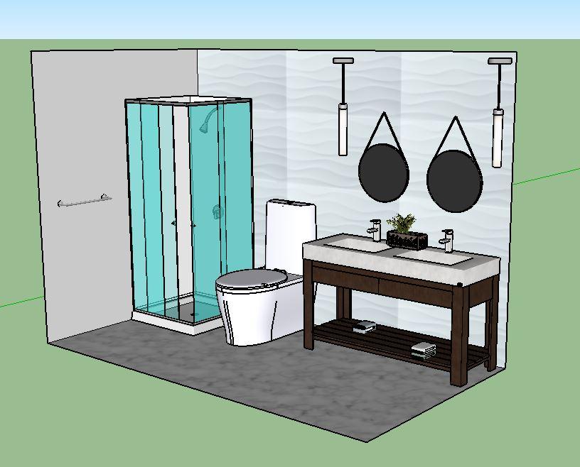 Double vanity modern bath II